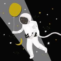 Servietten 33x33 cm - Capisco Astronaut