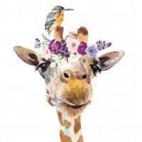 Servietten 33x33 cm - Pretty Giraffe