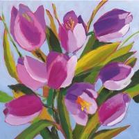 Servietten 33x33 cm - Tulips Musée
