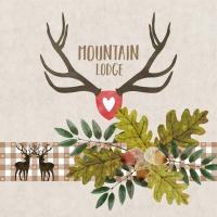Servietten 33x33 cm - Mountain Lodge beige
