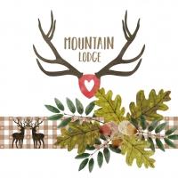 Servietten 33x33 cm - Mountain Lodge