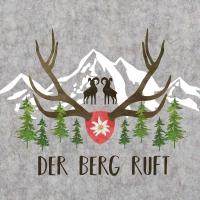 Servietten 33x33 cm - Der Berg ruft