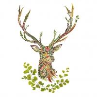 Servietten 33x33 cm - Green Deer