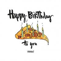 Servietten 33x33 cm - Happy Birthday