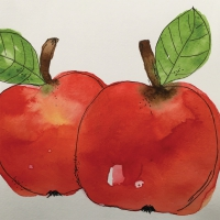 Servietten 33x33 cm - Two Apples
