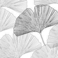 Servietten 33x33 cm - Gingko Leaves