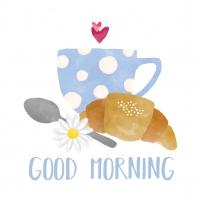 Servietten 33x33 cm - Good Morning