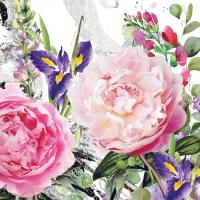 Servietten 33x33 cm - Jardin des roses