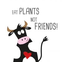 Servietten 33x33 cm - Plants Not Friends