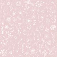 Servietten 33x33 cm - Pure rosé