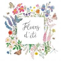 Servietten 33x33 cm - Nature Fleurs d´été