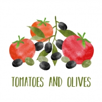Servietten 33x33 cm - Tomatoes & Olives