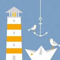 Servietten 33x33 cm - Beach Lighthouse 33x33 cm