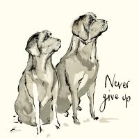 Servietten 33x33 cm - Never give up