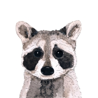Servietten 33x33 cm - Raccoon