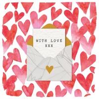 Servietten 33x33 cm - Love Letter
