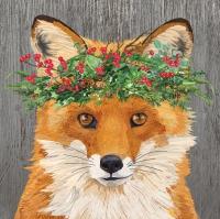 Servietten 33x33 cm - Winter Berry Fox