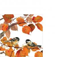 Servietten 25x25 cm - Autumn Birds