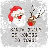 Servietten 25x25 cm - Santa Claus*