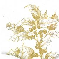 Servietten 25x25 cm - Gravierte Flora
