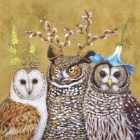 Cocktail Servietten Owl Family