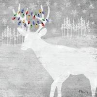 Servietten 25x25 cm - Woodland Moose silver