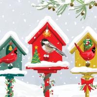 Servietten 25x25 cm - Ferien-Vogelhäuser