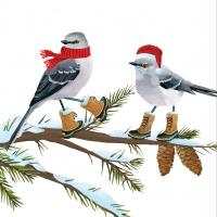 Servietten 25x25 cm - Vogel-Tweets