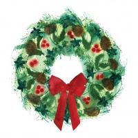 Servietten 25x25 cm - Winter Wreath