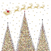 Servietten 25x25 cm - Joyeux Noel