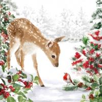 Servietten 25x25 cm - Bambi