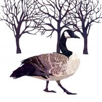 Lunch Servietten Winter Goose