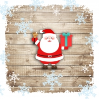 Servietten 33x33 cm - Santa Jingle Glocke