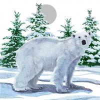 Lunch Servietten Snow Bear