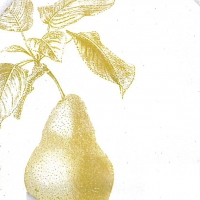 Lunch Servietten Engraved Pear