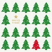 Servietten 33x33 cm - Scandic Tree green linen
