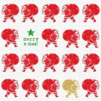 Servietten 33x33 cm - Scandic Santa rote Leinenstoffe