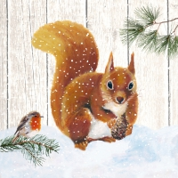 Servietten 33x33 cm - Robin & Squirrel