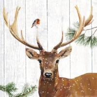 Servietten 33x33 cm - Robin & Deer