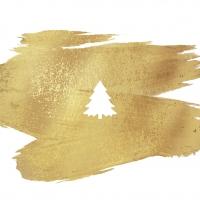 Servietten 33x33 cm - Bürstenbaum gold