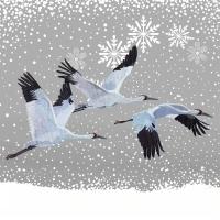 Lunch Servietten Snowfall Cranes