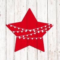 Servietten 33x33 cm - Chalet Deco Star
