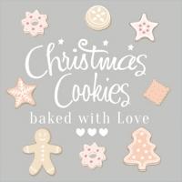 Servietten 33x33 cm - Christmas Sweet Cookies
