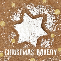Servietten 33x33 cm - Sweet Christmas Bakery