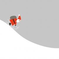 Servietten 33x33 cm - Here Comes Santa