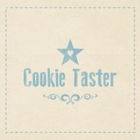 Servietten 33x33 cm - Cookie Taster beige
