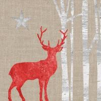 Servietten 33x33 cm - Mystic Deer linen