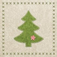Servietten 33x33 cm - Filz Weihnachtsbaum
