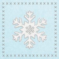 Servietten 33x33 cm - Felt Snowflake