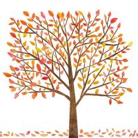 Servietten 33x33 cm - Herbstbaum